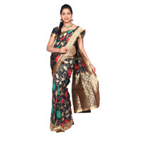 Arundathi black Banarasi silk Saree