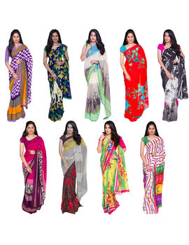 COMBO 67 GEORGETTE 9 SAREES