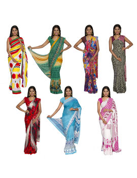 COMBO 100 GEORGETTE 7 SAREES