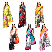 Akshaya 6 Denting Art Silk Saree Collections