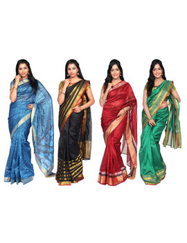 Subamangal 4 Cotton Silk Saree