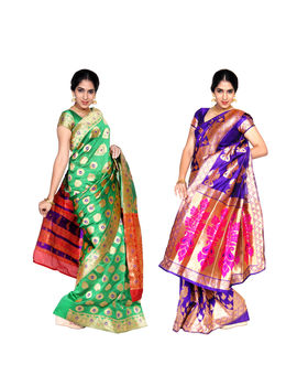 Sarvodaya 2 Jari Jacquard Cotton Silk Saree