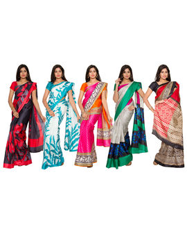 Aalaya 5 Bhagalpuri Saree Collection