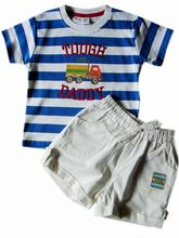ToffyHouse Baby Boy Bright Blue & White Striped Te...