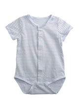 Baby One Piece Bodysuit- Blue & White Striped, 0 T...