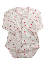 Red Floral Baby One Piece Full-sleeve Bodysuit, 0 ...