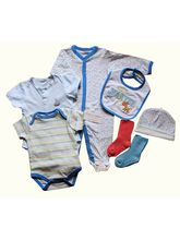 Baby Gift Set - Blue 7 Pieces, 0-3 Months