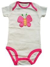 Carter's White Bodysuit With Pink Butterfly, 9-12 ...