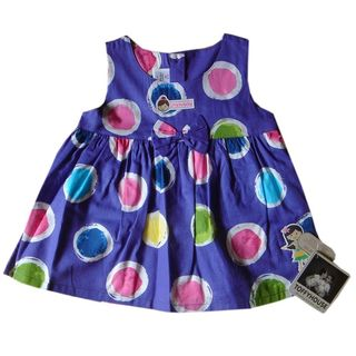 ToffyHouse Purple Baby Frock With Bright Coloured ...