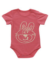 Bright Pink Baby Bodysuit In 100% Soft Cotton, 9 -...