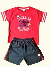 ToffyHouse Baby Boy Tee & Shorts Set - Red & Black...