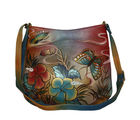 Floral Butterfly Leather Bag