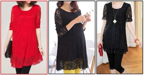 Maternity Lace Tunics