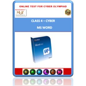 Class 4, MS Word, Online test for Cyber Olympiad