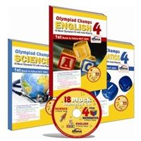 Class 4- Olympiad champs- Science, Maths, English- 18 mock Olympiad tests CD & set of 3 books