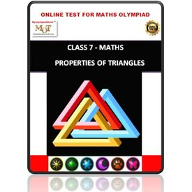 Class 7, Property of triangles, Online test for Math Olympiad