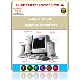 Class 4, Parts of computers, Online test for Cyber Olympiad