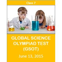 Class 7- Global Science Olympiad Mock test (GSOT) - 13th June 2015