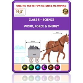 Class 5, Force- Work- Energy, Online test for Science Olympiad