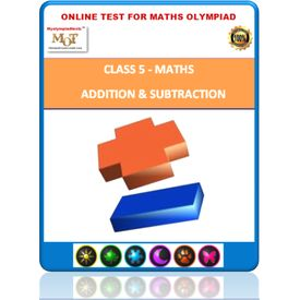 Class 5, Addition & Subtraction, Online test for Math Olympiad
