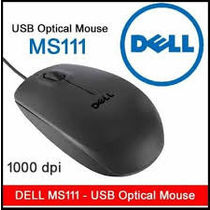 Brand New Dell USB Black Optical Scroll Mouse MS 111 1000 dpi 3 yrs warranty_ T4M8