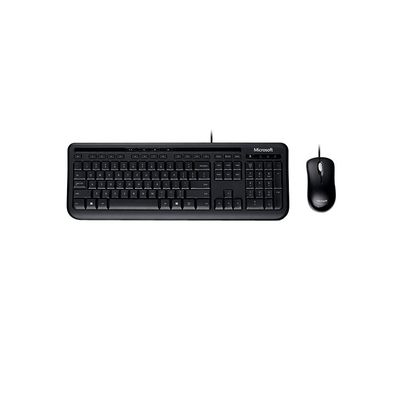 Microsoft Wired Desktop 600 USB Keyboard & Mouse combo,  black
