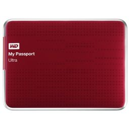 WD My Passport Ultra 2.5inch External Hard Disk,  red, 1 tb