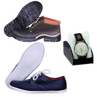 red cube Set Of 2 Shoes With Tanz Mens Watch Combo, 7