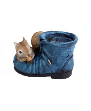 Squirrel On The Shoe (Garden Planters, Home Decor And Decor)