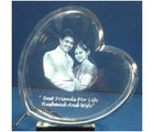 Customized Photo Crystal Heart Shaped with 3D effect
