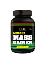 INLIFE Mass Gainer Powder 2 Lbs Chocolate Flavor F...