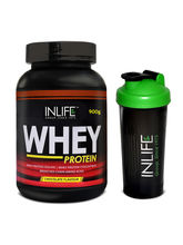 INLIFE Whey Protein Powder 2 lbs┬ á (Chocolate Flavour) Body Building Supplement