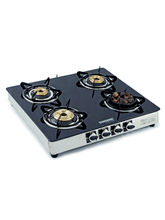 Sunshine Meethi Angeethi Four Burner Toughened Glass Cook Top, Png, Manual