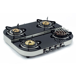 Sunshine Meethi Angeethi 4 Burner Step Gas Cooktop