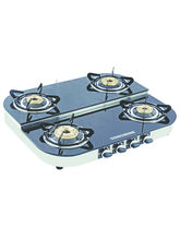 Sunshine Alfa Step SS Four Burner Toughened Glass Cook Top, Auto Ignition, Png