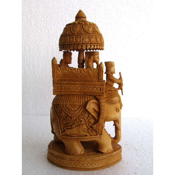 Home Decor Items Buy Online: Home Decor & Handicrafts: Wooden Elephant Figurine