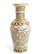Craftsgallery Marble Vase Gold Painted, 9 inches