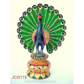 Peacock Painted 6 Inches Online Shopping India Buy Handicrafts Gifts Crafts Home Decor Decorative Indian Handicrafts Paintings Wall Decor Items