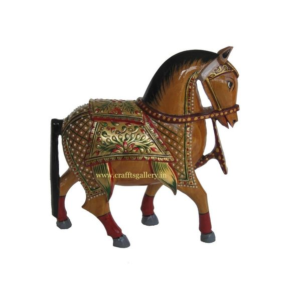 Wooden Horse Sculpture Online Shopping India Buy Handicrafts Gifts Crafts Home Decor Decorative Indian Handicrafts Paintings Wall Decor Items