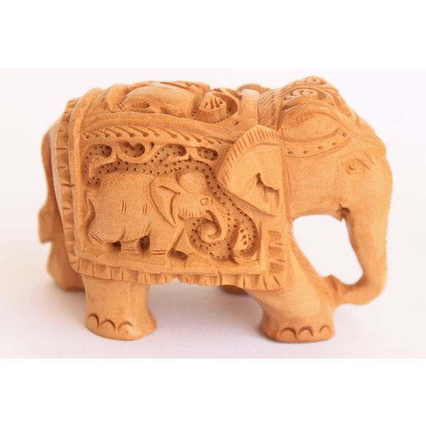 Buy Wood Elephant With Animal Carvings 2 Inches Online Online Shopping India Buy Handicrafts Gifts Crafts Home Decor Decorative Indian Handicrafts