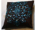 Hand Embroidered Silk Cushion Covers.