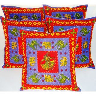 Rajyasthani Cushion Covers Set Of 5 Pc (16 X 16) K...