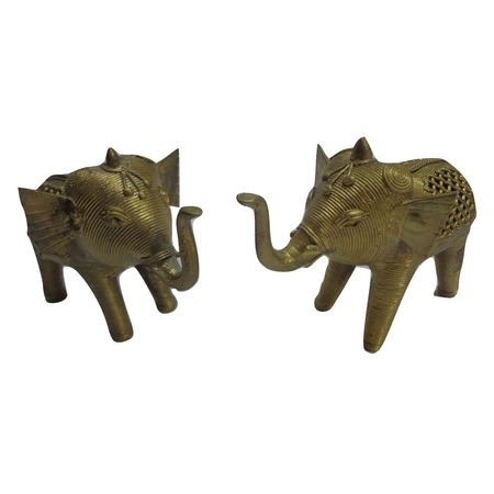OHD001: Dhokra Elephant Set made in Dhenkanal