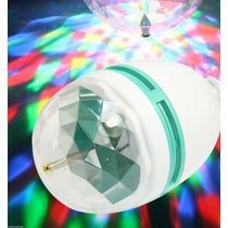 Led Bulb Party Light Disco Effect Full Color 360 Degree Rotating Lamp Portable