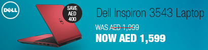Dell Inspiron 3543-0826 Laptop, Red