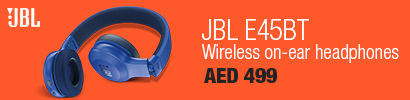 JBL E45BT Wireless on-ear headphones, Blue