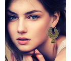 Latest Fashionable Gold Plated Hoop Earrings for Girls, gold, free