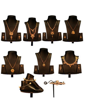 Sembaruthi 7 Set Jewel Collections with Free 1 Hair Clip & 1 pair of Anklet