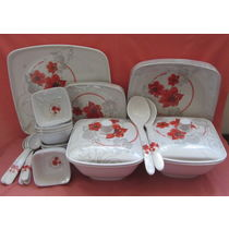 Dinner set Melamine 37 Pcs, Kitchen Dining Dinnerware, Dinner set for Dining, Gift - 3803323-72334505703