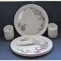 Dinner set Melamine 24 Pcs, Kitchen Dining Dinnerware, Dinner set for Dining, Gift - 3803323-25295233831
